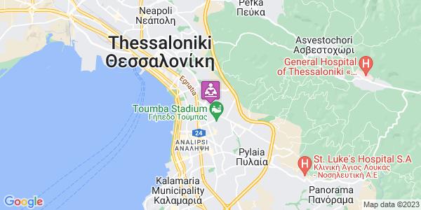 Google Map of Αμοργού 29, Τριανδρία 546 38, Ελλάδα