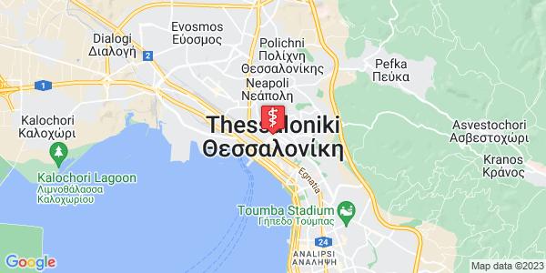 Google Map of Θεσσαλονίκη, Ελλάδα