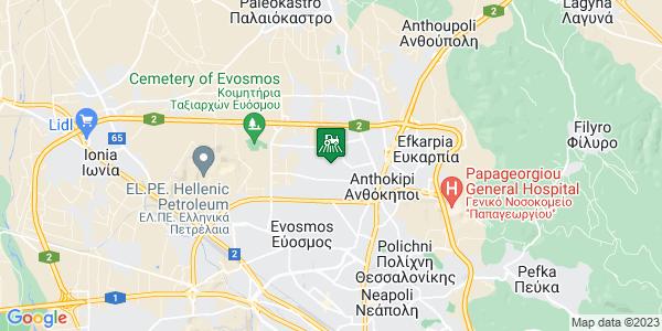 Google Map of Τερμα Μακρυγιαννη, Evosmos 570 13, Ελλάδα