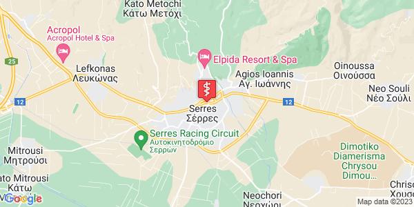 Google Map of Τσαλόπουλου 3, Σέρρες 621 22, Ελλάδα