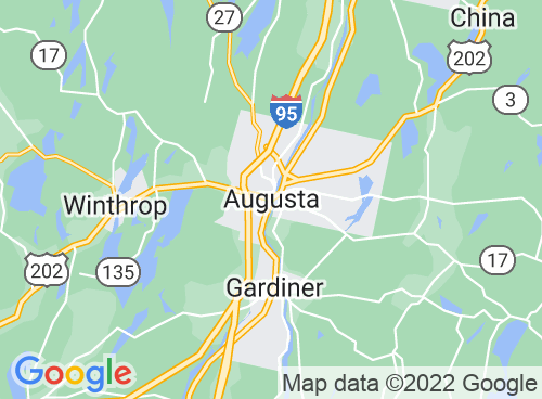 Location map for Augusta Rail Trail