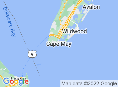 Location map for Cape May