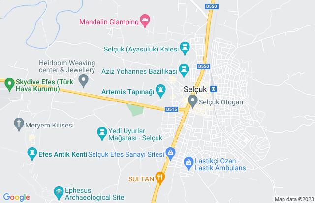 destination tour map