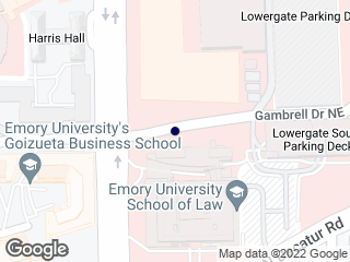 Map showing location of Gambrell @ Law Sch/Bus Sch