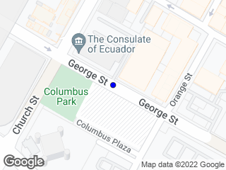 Map showing location of 81 George St.