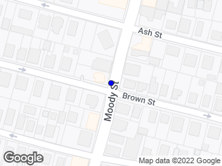 Map showing location of Brown/Moody St. - (Inbound)