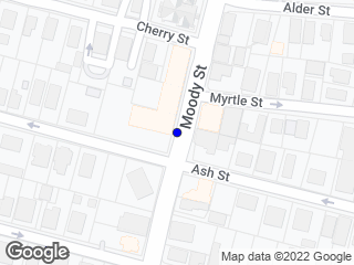 Map showing location of Ash/Moody St. - (Inbound)