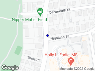 Map showing location of Highland/South St. - (Inbound)