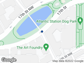 Map showing location of Art Foundry