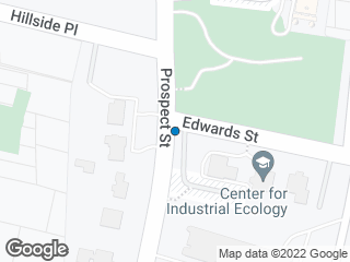 Map showing location of Prospect / Edwards (Yale Garden)