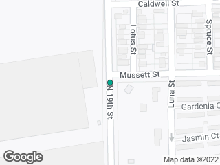 Map showing location of 19th  @  Mussett
