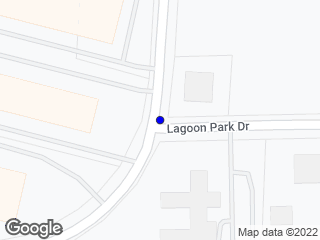 Map showing location of Lagoon Park Dr. & Gunter Park Dr. E.