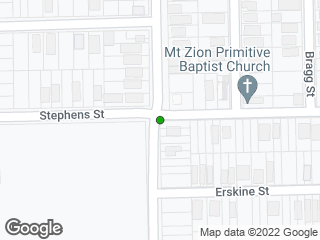 Map showing location of Oak & Stephens