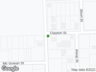 Map showing location of Oak & Clayton