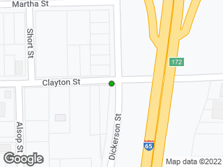 Map showing location of Clayton & Dickerson