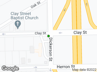 Map showing location of Clay St & Dickerson
