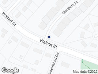 Map showing location of Walnut St at Greenwood Cir