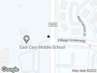 Map showing location of SE Maynard Rd at East Cary Middle School (SB)