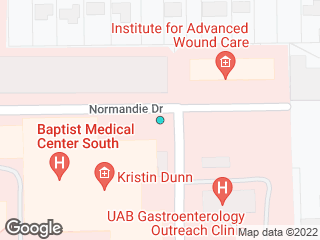 Map showing location of Baptist Hospital @ Morrow Dr