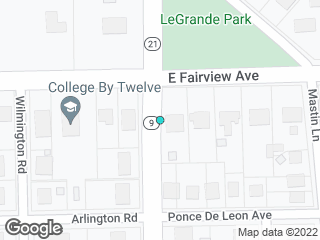 Map showing location of Norman Bridge & Fairview