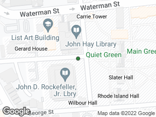 Map showing location of Rockefeller Library