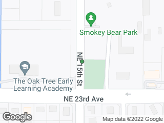 Map showing location of Smokey Bear Park