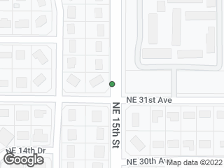 Map showing location of Southbound NE 15th Street @ NE 31 Avenue