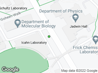 Map showing location of Icahn Lab
