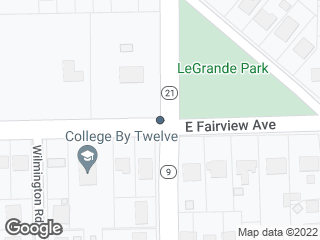 Map showing location of Fairview Ave. & Norman Bridge Rd.