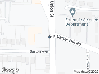 Map showing location of Decatur St. & Carter Hill. Rd.