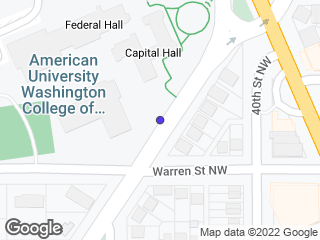 Map showing location of WCL at Tenley - Inbound