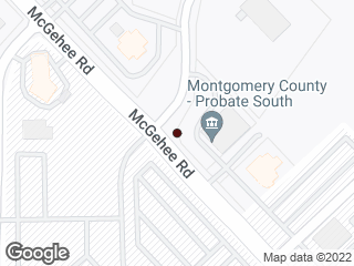 Map showing location of McGhee Rd & McGhee Place Dr. North