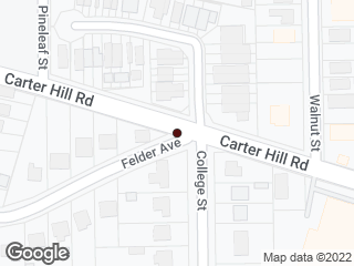 Map showing location of Carter Hill & College