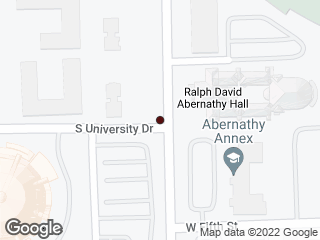 Map showing location of Harris & University
