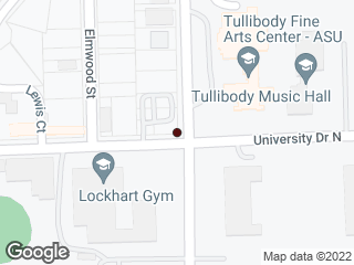 Map showing location of Jackson & University