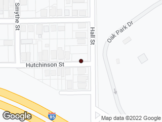 Map showing location of Hutchinson & Hall