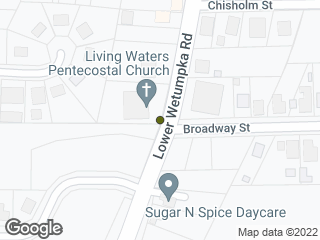 Map showing location of Lower Wetumpka & Broadway