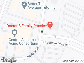 Map showing location of Fairlane & Executive Park