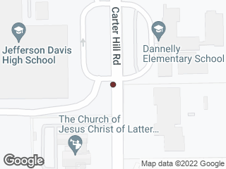 Map showing location of Carter Hill at Jefferson Davis HS