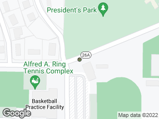 Map showing location of Pressly Stadium