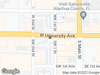 Map showing location of Alachua County Office of the State Attorney