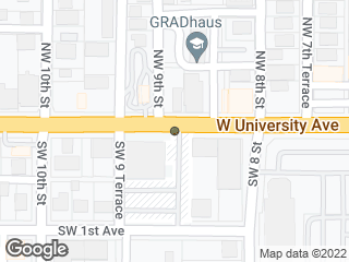 Map showing location of University of Florida Human Resources