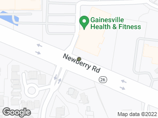 Map showing location of Gainesville Health & Fitness