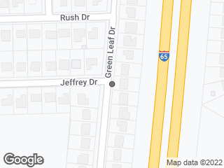 Map showing location of Green Leaf & Jeffrey