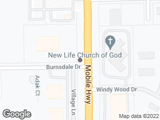 Map showing location of Mobile & Burnsdale
