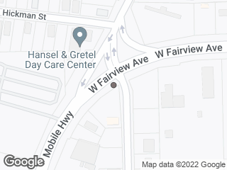 Map showing location of Mobile & Fairwest Pl.
