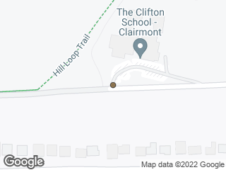Map showing location of Starvine Way @ The Clifton School (Eastbound)