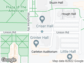 Map showing location of Criser Hall