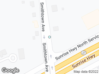 Map showing location of Sunrise Highway North Service Road