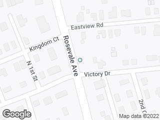 Map showing location of Victory Drive
